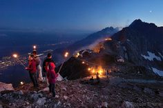 Photo by @shonephoto (Robbie Shone) - Today is the longest day of the year in the northern hemisphere. How will you celebrate the summer solstice? Pictured, a group of people celebrate Sonnwendfeuer, or midsummer atop the Nordkette mountain near Innsbruck, Austria. Across the Alps at this time of the year, bonfires and torches light up the night in celebration. Happy Solstice one and all!