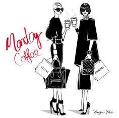 Posts about Monday Coffee by Megan Hess on Kitt Noir Megan Hess Illustration, Illustration Mode, Illustration Artists, Love Fashion, Trendy Fashion, Fashion Art, Fashion Design, Fall Fashion, Ilustración Megan Hess