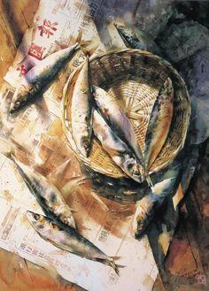 Li Qing - 李庆 - Ли Цин Chinese watercolor - - 中国水彩 - китайская акварель