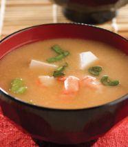 Sopa de miso con camarón