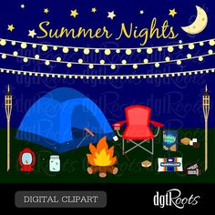 Summer Nights Clip Art