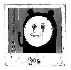 Pena The Unholy - Comics - Cute Penguins - Dark Art Illustrations - Horror - Dark Humor Dark Art Illustrations, Illustration Art, Cute Penguins, Comic Art, Polaroid, Horror, Drama, Symbols, Comics