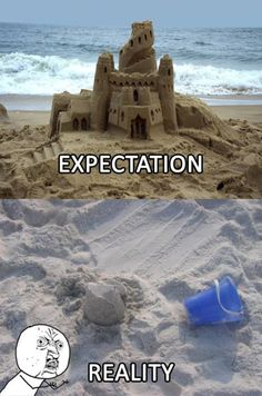 Expectation vs Reality - What you expect and what you get in reality. Collection of 21 funny expectation versus reality pictures. Funny and Crazy Pictures, funny videos, flash games Funny Fails, Funny Memes, Jokes, Funny Quotes, It's Funny, Funny Shit, Beach Humor, Funny Beach, Expectation Reality