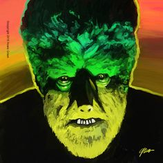 Wolfman Pop Art painting by Howie Green www.hgd.com