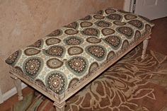 *Savvy Salvage-old coffee table turned into tufted bench-darling
