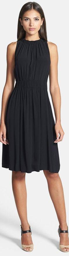 Kate Spade New York tie back crepe dress