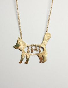 (repin-- it's out of stock now, but I think I'm in love with this little guy) Wilde Beast pendant from Old Gold Boutique.