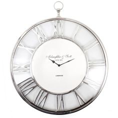 Klokke med særpreg! Med sine gjennomførte detaljer og skinnende utseende er denne et blikkfang. En klassisk klokke som passer overalt!  Diameter: 40 cm Dybde: 5 cm