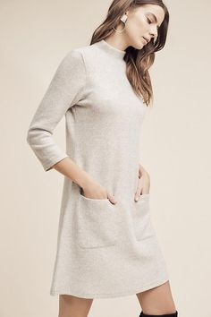 Not a flattering color on me, but so cute and cozy-looking! Alba tunic sweater dress