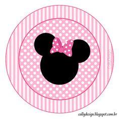 "CALLY'S DESIGN-Kits Personalizados Gratuitos: Kit Personalizado Aniversário ""Minnie Rosa"" para Imprimir Minnie Mouse Template, Minnie Mouse Stickers, Mickey E Minnie Mouse, Minnie Mouse Images, Minnie Mouse Party Decorations, Minnie Baby, Minnie Mouse 1st Birthday, Minnie Png, Mouse Parties"
