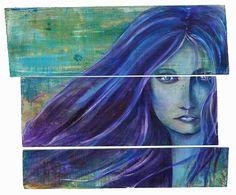 El hada del norte | The Northern fairy | Acrílico sobre madera | Acrylic on wood by Pili Tejedo 70 x 70 cm
