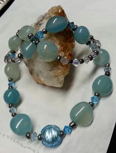 Aquamarine Necklace, Necklace, Blue Aquamarine Necklace, Aquamarine