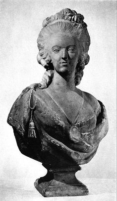 A bust of Marie Antoinette, 18th century Queen of France.