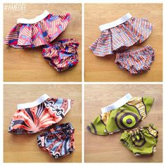 Cute Ankara Print Circle Skirts and Matching Nappy/Diaper Covers for baby Princesses joining the family.   Makes a beautiful and unique gift for a new arrival and photo shoots.  Handmade by Amédée www.amedee.co.uk