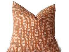 Pillows, Throw Pillows, Decorative Throw Pillows Designer Fabric,  Orange  Pillow