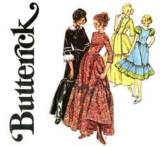 frontier woman costume pattern bust 38 uncut butterick 4585 full skirt western dress and bonnet womens vintage sewing pattern, $8.0