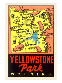 50 Best Yellowstone Maps images