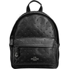 506d6e6105 COACH Bandana Rivets Mini Campus Backpack in Pebble Leather Handbags    Accessories - Macy s