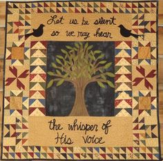"""Folk art quilt pattern, 36 x 36"""", by Pastthyme Patterns"""