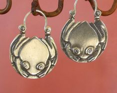 tiny Crescent Moon Earrings Petite silver hoop by BobsWhiskers