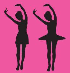 Twins Ballerina Recital  ( Vector ) vector art illustration