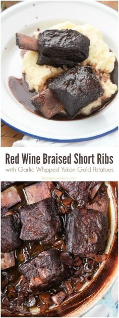 Red Wine Braised Short Ribs with Garlic Whipped Yukon Gold Potatoes (recipes) BoulderLocavore.com