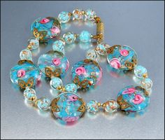 Vintage Italian Venetian Wedding Cake Glass Bead By Boylerpf