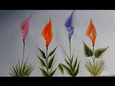 one stroke painting information about brush, paint , stroke and many more for beginner - YouTube