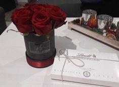 Red Roses Black  flower box Birthday girl Gift for Her Secret Bloom Roses Luxury Roses