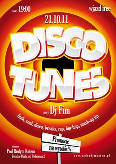 Disco Tunes - Party Poster