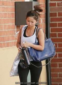 """Dad's"" Actress Brenda Song heads to the Gym in los Angeles http://www.icelebz.com/events/_dad_s_actress_brenda_song_heads_to_the_gym_in_los_angeles/photo1.html"