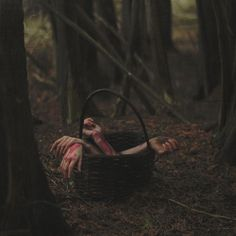A tisket a tasket a bloody creepy basket Horror Photography, Dark Photography, Creepy Photography, Hipster Photography, Arte Horror, Horror Art, Southern Gothic, Red Riding Hood, Little Red