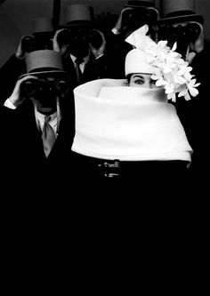Givenchy Hat 1958 by Frank Horvat. This photo has been digitally lengthened from the original.