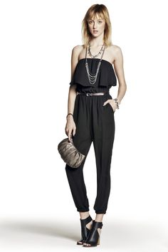 How many times have you heard that black is slimming? It proves to be true once again in this hip strapless jumpsuit.