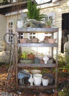 Antique ladder cart