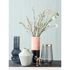 Vase en céramique rose et dorée H30   Maisons du Monde