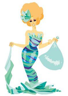 Alaska  Trash Couture Postcard by ChadSellComics on Etsy
