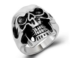 US$ 2.42 Wholesale Stainless Steel Men Skull Rings