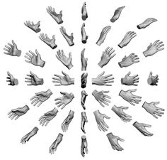 Anatomy 360 — Hand Scan angle study chart inspired by Shadow. Hand Drawing Reference, Art Reference Poses, Anatomy Reference, Drawing Skills, Drawing Poses, Drawing Techniques, Drawing Tips, Drawing Ideas, Animation In Photoshop