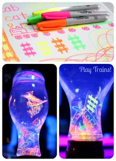 glowing floating word discovery bottles - so fun for sight words, letters & sounds or vocabulary.