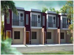 Picture Bungalow House Design, Modern House Design, Rent To Own Homes, Duplex Plans, Townhouse Designs, Apartment Floor Plans, Studio Living, Small Apartments, Loft