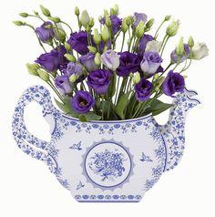 Party Porcelain Blue Teapot - Bickiboo Party Supplies