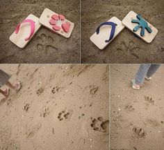 kids can make their own paw prints