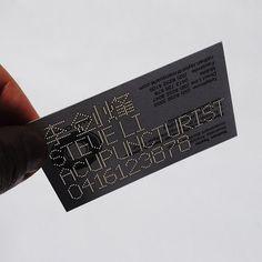 Steve Li business card | #Business #Card #letterpress #creative #paper #bizcard #businesscard #corporate #design #visitenkarte #corporatedesign < repinned by www.BlickeDeeler.de | Have a look on www.LogoGestaltung-Hamburg.de