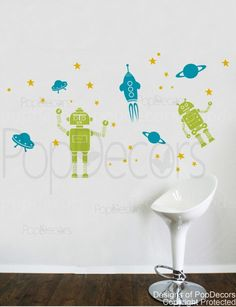 And I'm thinking of doing a space/robot theme for the big boys' room - I want to make the curtains, and will have fun with it :)