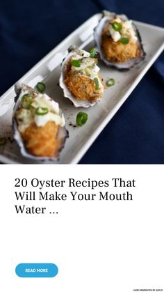 20 Oyster Recipes That Will Make Your Mouth Water . 20 Oyster Recipes That Wi. Shellfish Recipes, Seafood Recipes, Appetizer Recipes, Mussel Recipes, Appetizers, Smoked Oysters, Grilled Oysters, Raw Oysters, Fish Dishes
