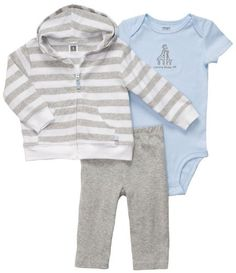 bba8c0506 Baby Boys Blue Knit Layette Set with Hat   Socks