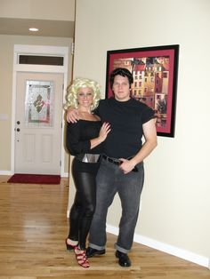 Sandy and Danny. Couples costumes