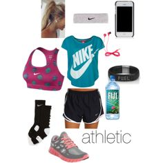 """athletic outfit"" by ksteinmetz10 on Polyvore cheap website for #nike #free #run 2 $49,all nike shoes for over 55% off"