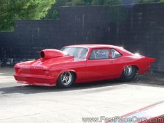 Drag Cars | Drag Race Cars > Novas > Picture of Solid Red NOVA Drag Car